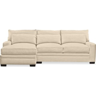 Winston Comfort 2 Piece Sectional with Left-Facing Chaise - Curious Pearl