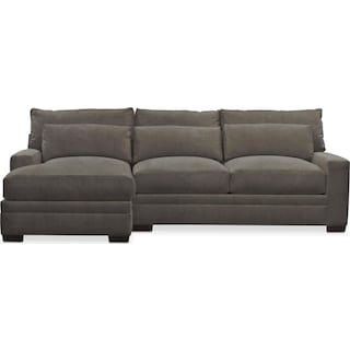 Winston Comfort 2 Piece Sectional with Left-Facing Chaise - Statley L Sterling