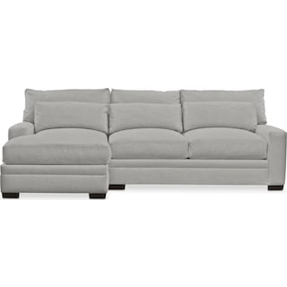 Winston Comfort 2-Piece Sectional with Left-Facing Chaise - Dudley Gray