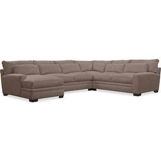 Winston Cumulus 4-Piece Sectional with Left-Facing Chaise - Hugo Mocha