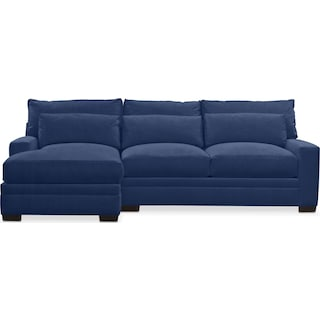Winston Cumulus 2 Piece Sectional with Left-Facing Chaise - Oakley III Ink