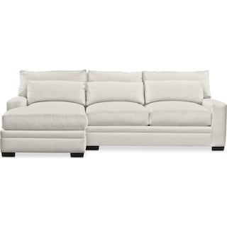 Winston Cumulus 2 Piece Sectional with Left-Facing Chaise - Anders Ivory