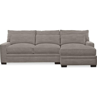 Winston Cumulus 2 Piece Sectional with Right-Facing Chaise - Victory Smoke
