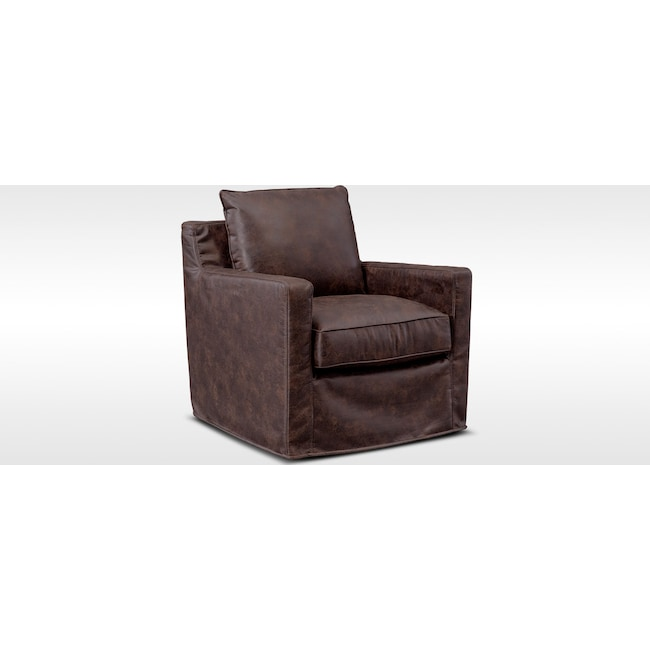 Living Room Furniture - Eastwood Swivel Chair - Coffee