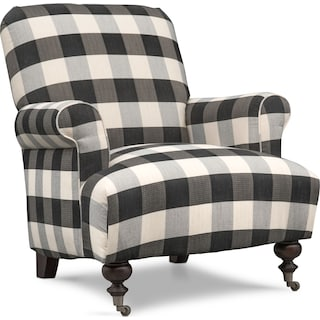 Rhys Accent Chair - Black and White