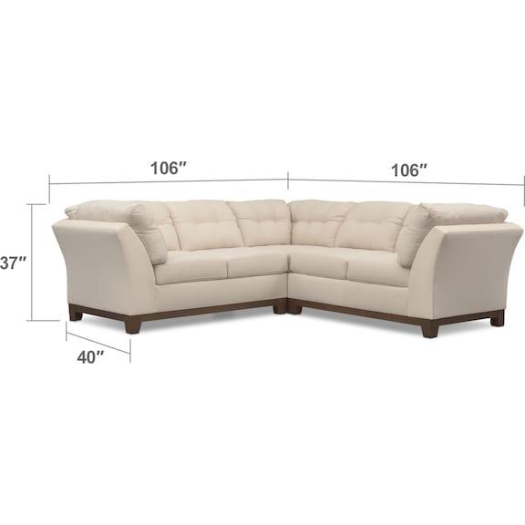Living Room Furniture - Sebring 3-Piece Sectional - Oyster