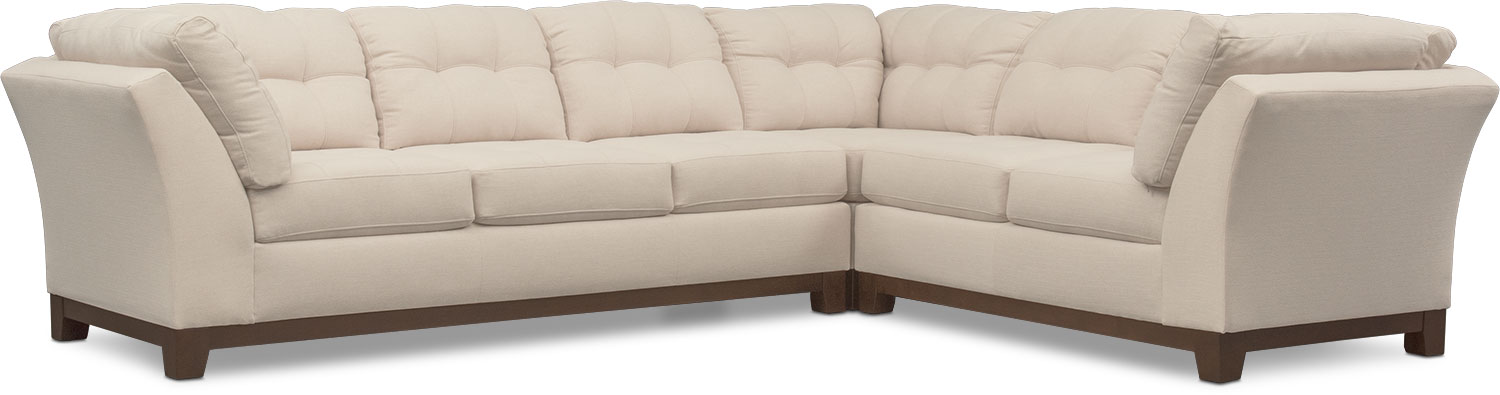 Living Room Furniture - Sebring 3-Piece Sectional with Sofa