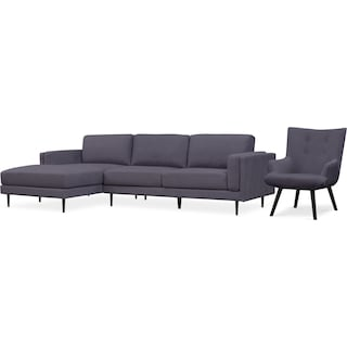 West End 2-Piece Sectional and Accent Chair