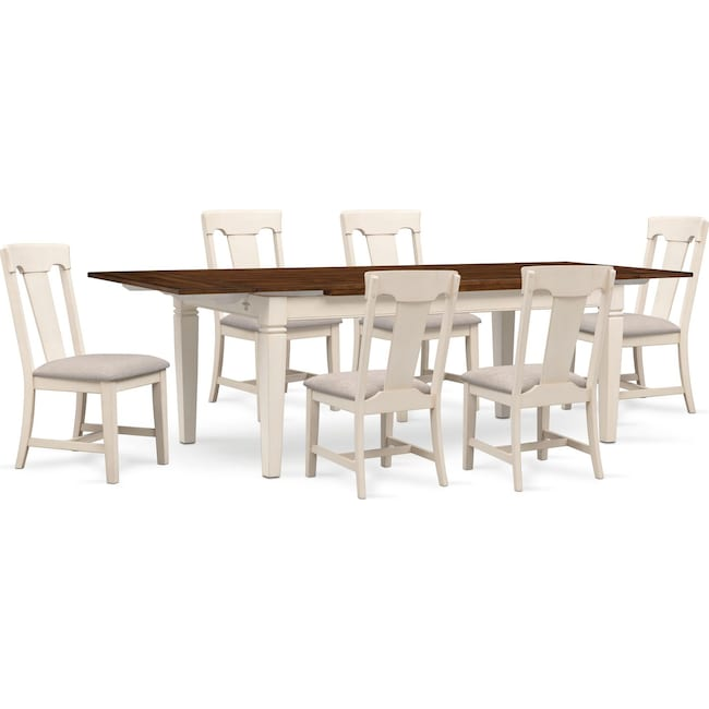 Dining Room Furniture - Adler Dining Table and 6 Side Chairs
