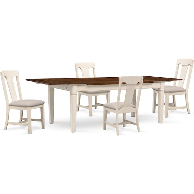 Dining Room Furniture - Adler Dining Table and 4 Side Chairs