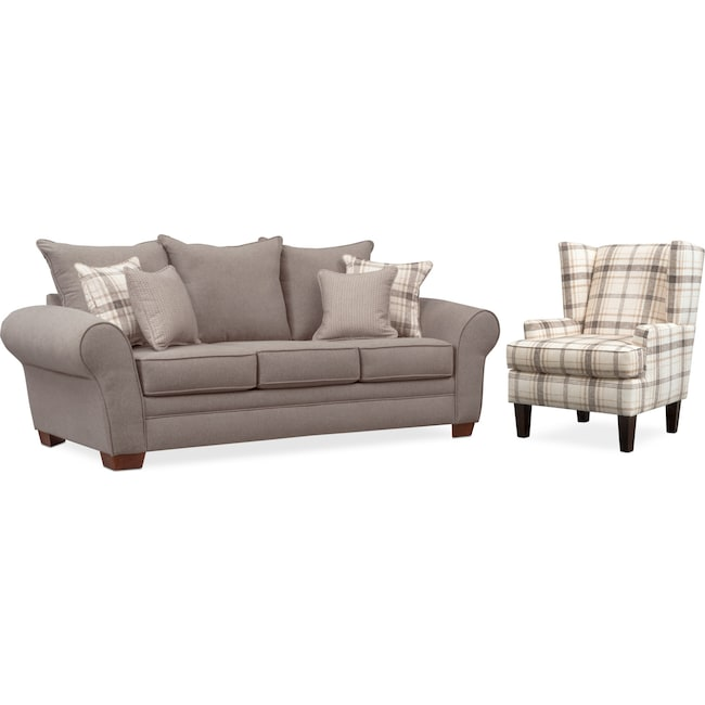Living Room Furniture - Rowan Sofa and Accent Chair Set