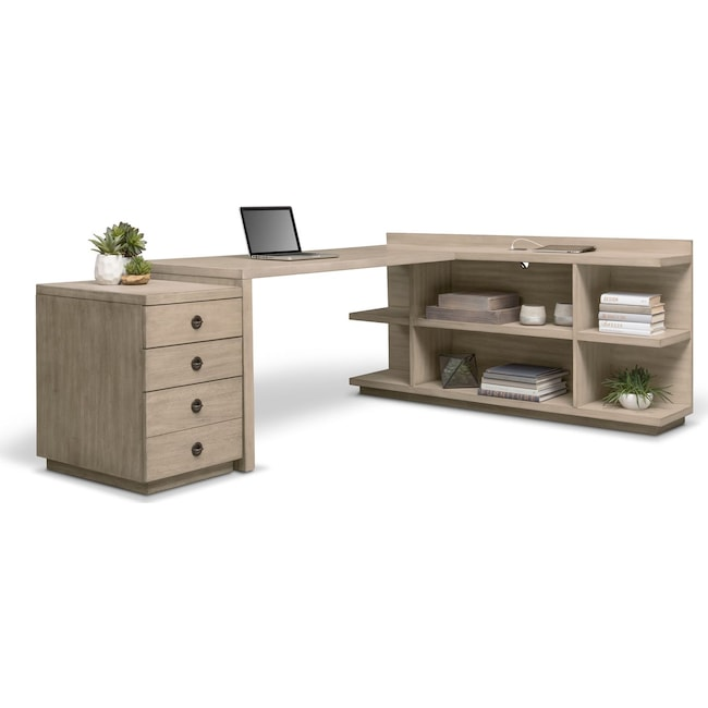 Home Office Furniture - Barclay Desk - Gray