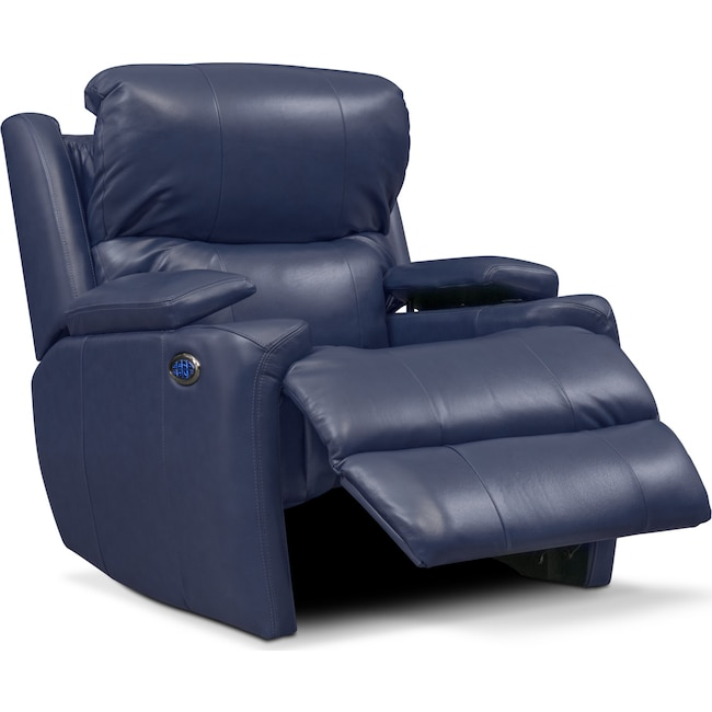 Cool Omega Triple Power Leather Recliner Bralicious Painted Fabric Chair Ideas Braliciousco