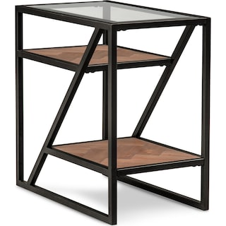 District Chairside Table - Gunmetal