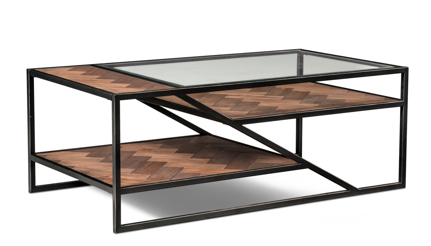 Accent and Occasional Furniture - District Coffee Table - Gunmetal