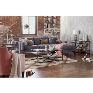 District Sofa Table - Gunmetal
