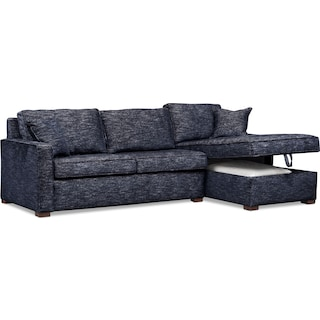 Mayson 2-Piece Sectional with Right-Facing Chaise - Navy