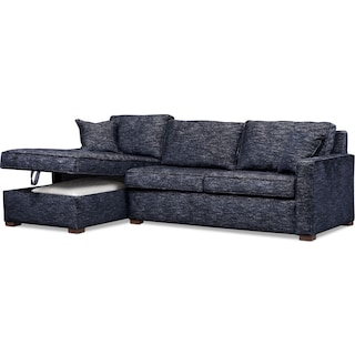 Mayson 2-Piece Sectional with Left-Facing Chaise - Navy