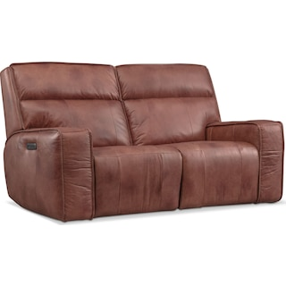 Bradley Triple-Power Reclining Loveseat - Brown