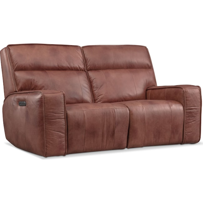 Living Room Furniture - Bradley Triple-Power Reclining Loveseat
