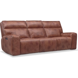 Bradley Triple-Power Reclining Sofa - Brown