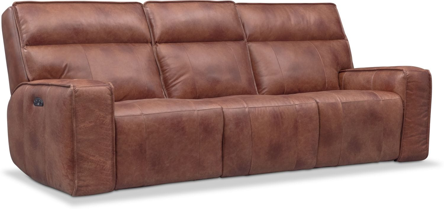 Living Room Furniture   Bradley Triple Power Reclining Sofa