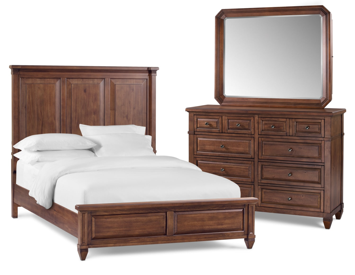 Rosalie 5 Piece King Bedroom Set   Chestnut