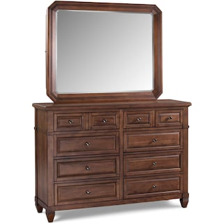 Dresser and Mirror - Chestnut