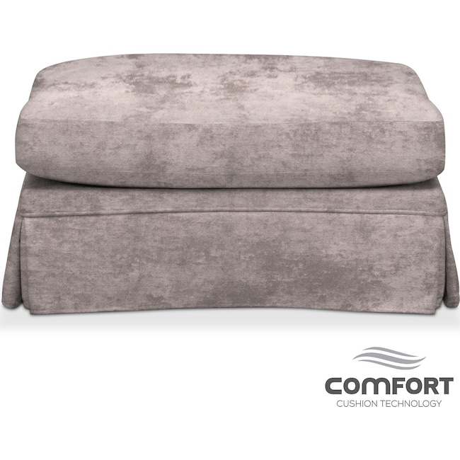 Living Room Furniture - Campbell Comfort Ottoman - Cement