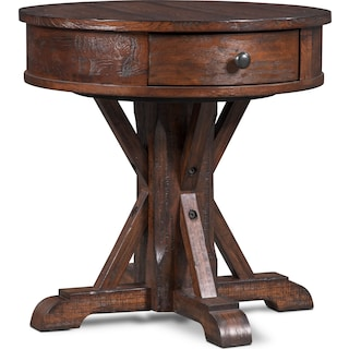 Sheffield Round End Table - Walnut
