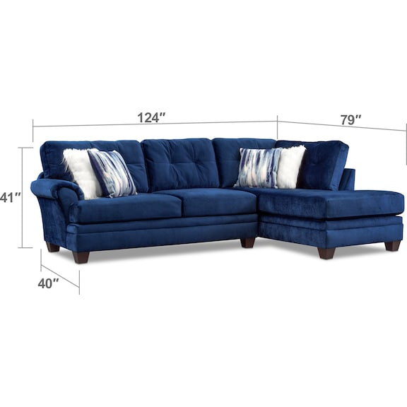Living Room Furniture - Cordelle 2-Piece Sectional with Chaise