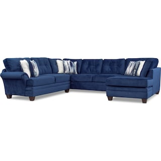 Cordelle 3-Piece Sectional - Blue