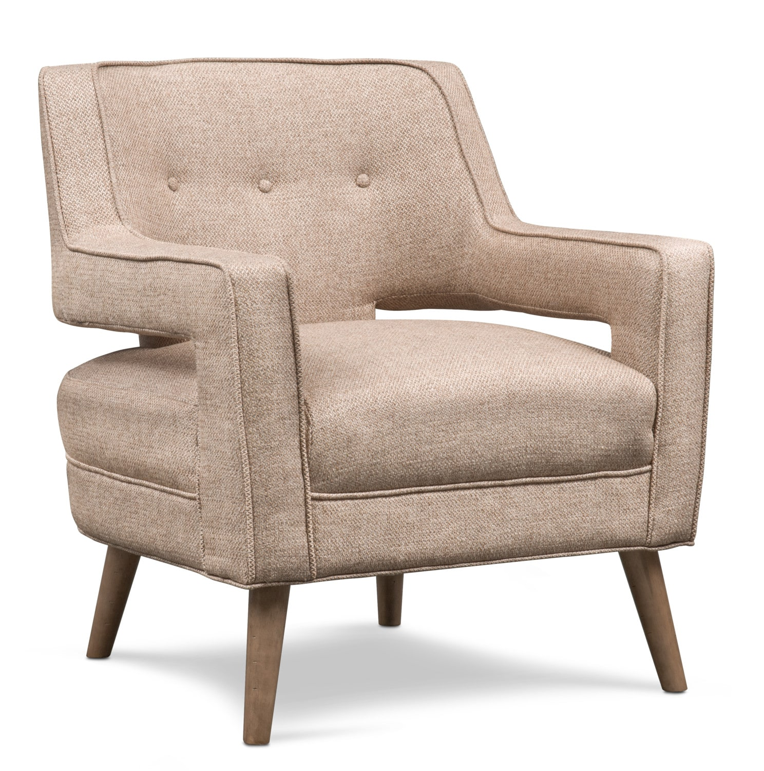 Living Room Furniture - Shelby Accent Chair - Beige