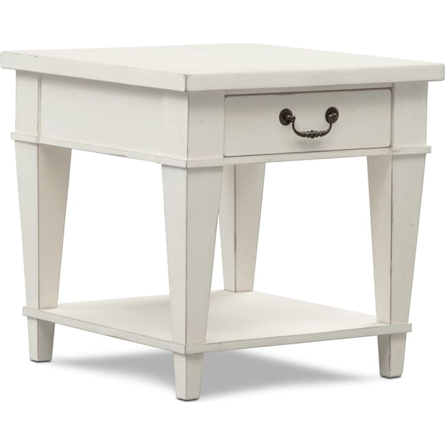 Accent and Occasional Furniture - Waverly End Table - White
