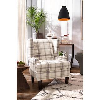 Rowan Accent Chair - Plaid