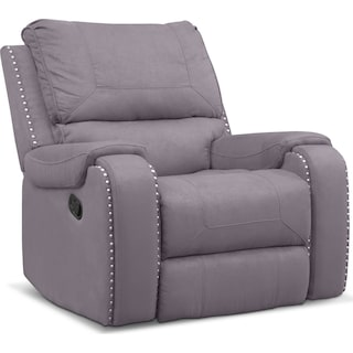 Austin Manual Recliner - Gray