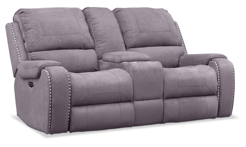 Living Room Furniture - Austin Dual-Power Reclining Loveseat