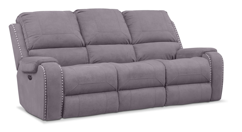 Living Room Furniture - Austin Dual-Power Reclining Sofa