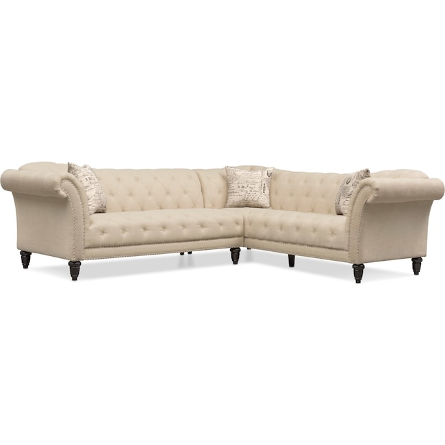 Living Room Furniture - Marisol 2-Piece Sectional