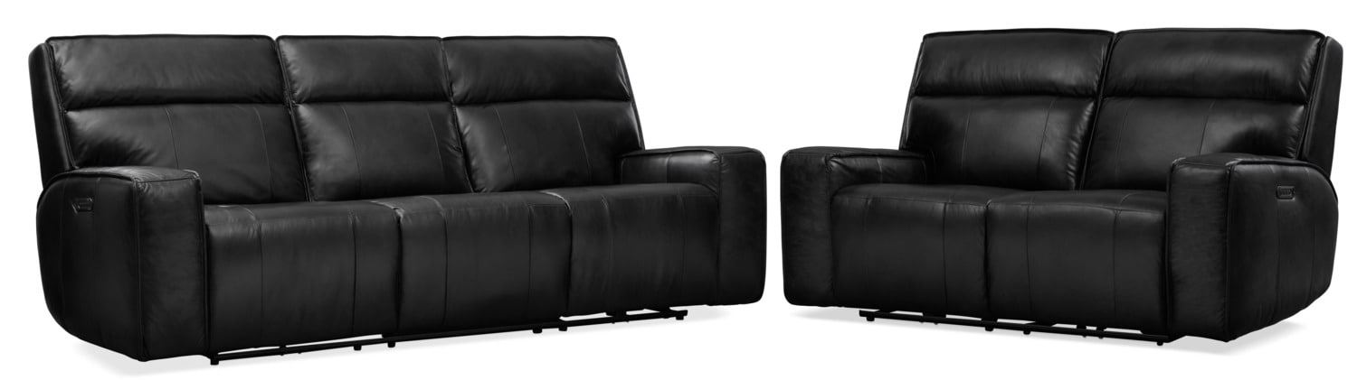 Living Room Furniture - Bradley Triple-Power Reclining Sofa and Loveseat Set