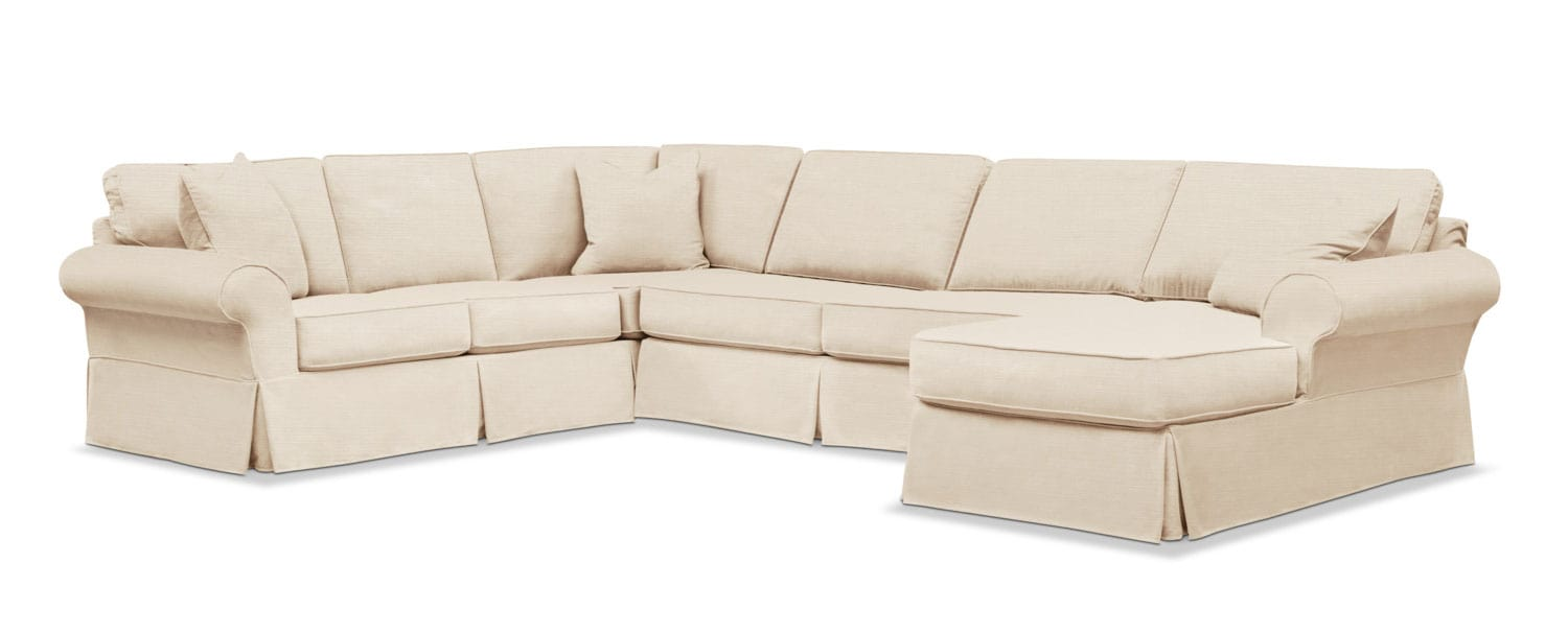 Sawyer 3 Piece Slipcover Sectional With
