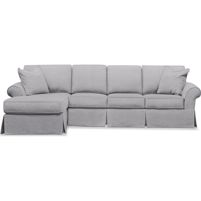 Sawyer 2 Piece Large Slipcover Sectional With Chaise