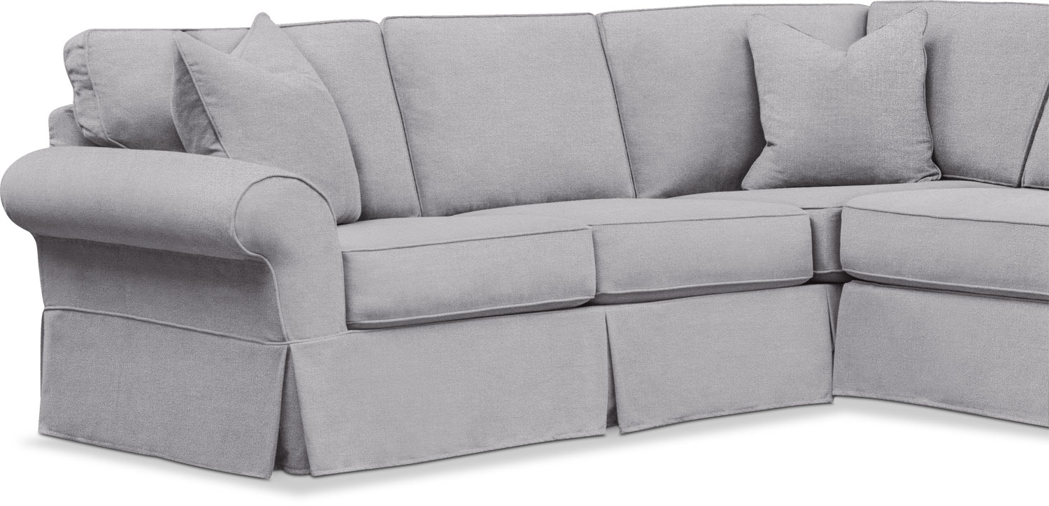 Sawyer 3 Piece Slipcover Sectional With Chaise American Signature