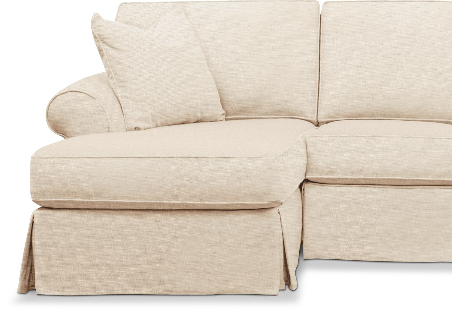 Sawyer 2 Piece Slipcover Sectional With Sofa And Chaise
