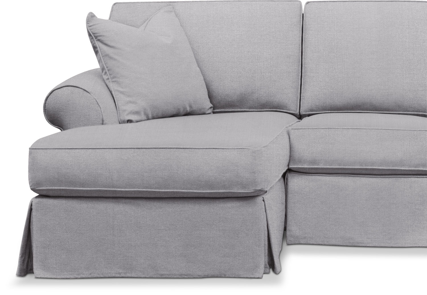 Sawyer 2 Piece Slipcover Sectional With Sofa And Chaise American