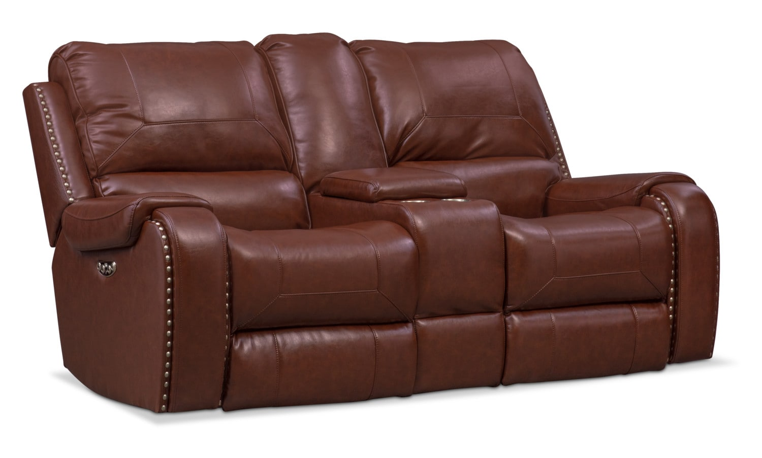 Living Room Furniture - Austin Dual Power Reclining Loveseat
