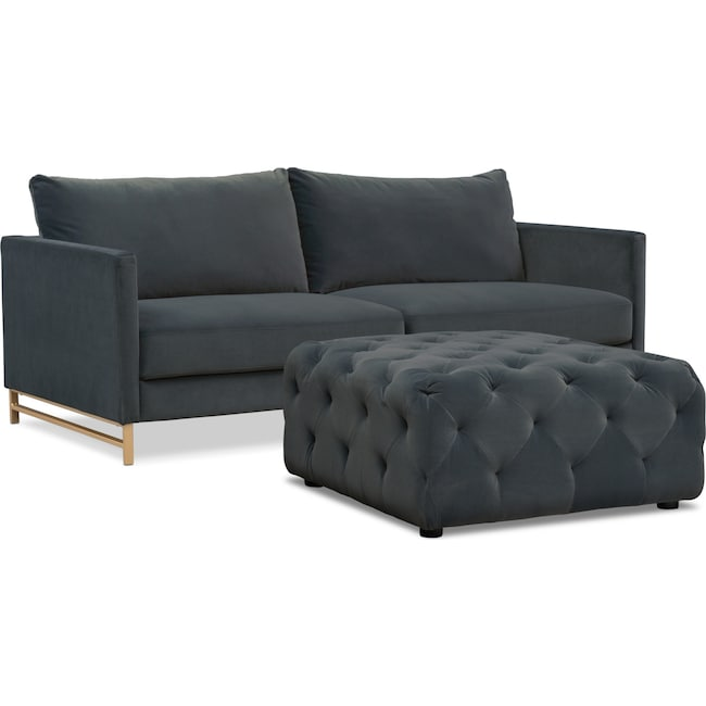 Living Room Furniture Alex Sofa And Ottoman Set