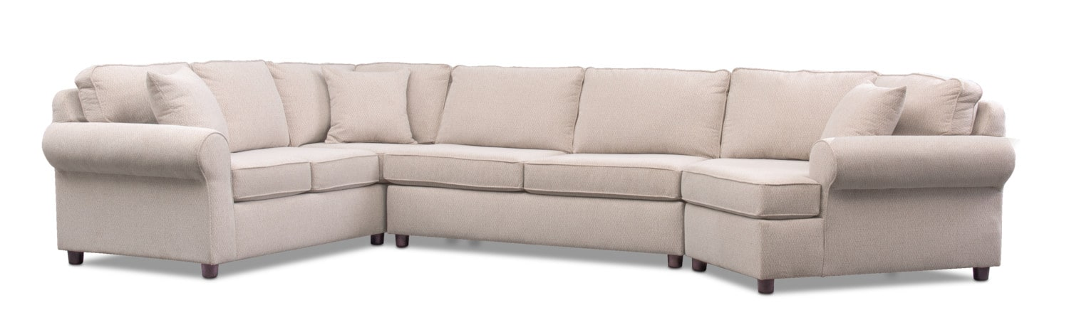 Ashton 3 Piece Sectional With Cuddler ...