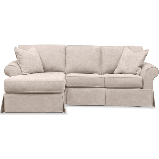 Awesome Sawyer 2 Piece Small Slipcover Sectional With Chaise Beatyapartments Chair Design Images Beatyapartmentscom