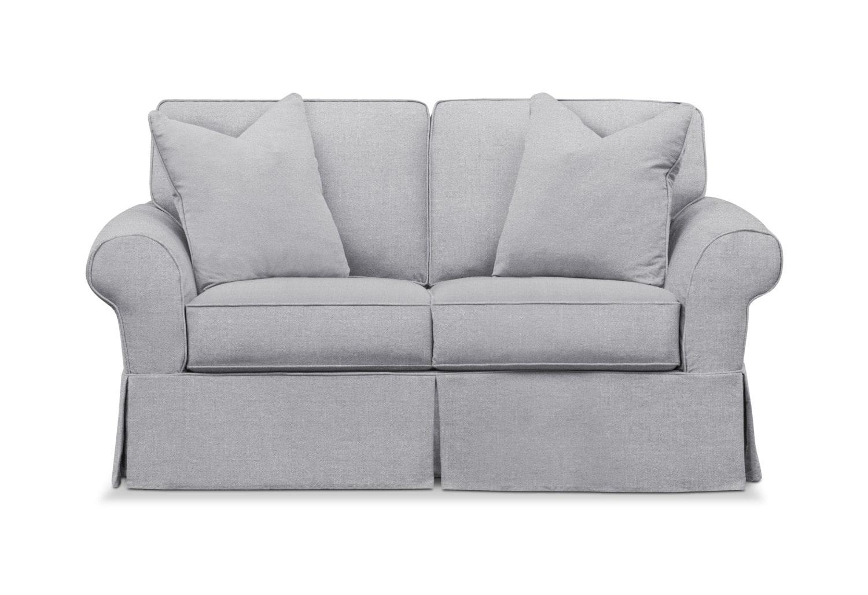 Stupendous Sawyer Slipcover Loveseat Machost Co Dining Chair Design Ideas Machostcouk